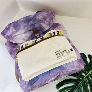 RVCA -Tie die backpack w/ Aztec design.